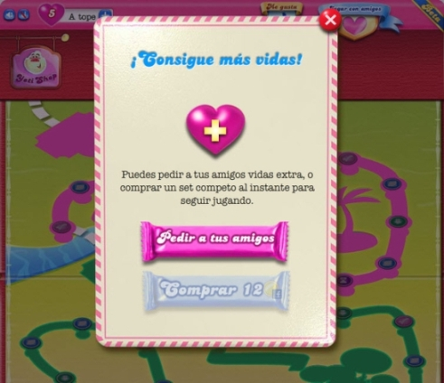 candy crush saga vidas